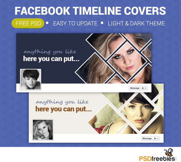 Face timeline cover psd template