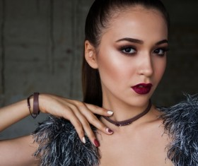 Fashion makeup girl Stock Photo