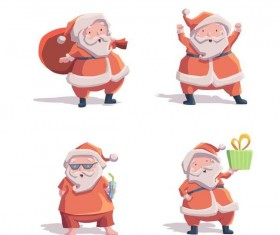 Fashion santa illustration vector