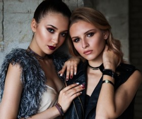 Fashion sisters Stock Photo