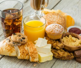 Fast food and drink Stock Photo