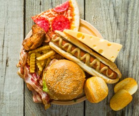 Fast food on the table Stock Photo 01