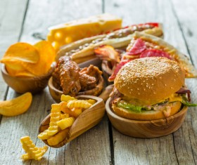 Fast food on the table Stock Photo 02