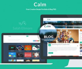Flat Styles PSD Website Template