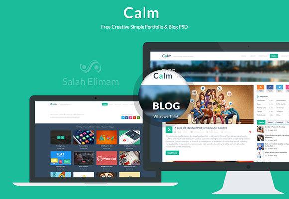 Flat Styles PSD Website Template