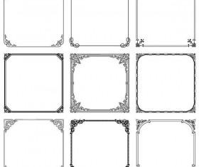 Floral square frames vector 01