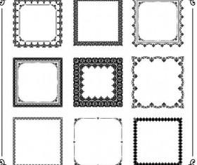 Floral square frames vector 02