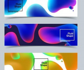 Fluid shapes banners vector