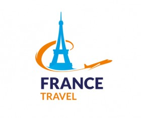 France travel logo vector