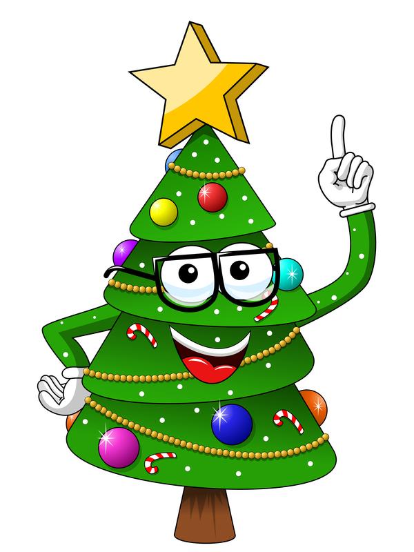 Cartoon christmas decoration lights card and
