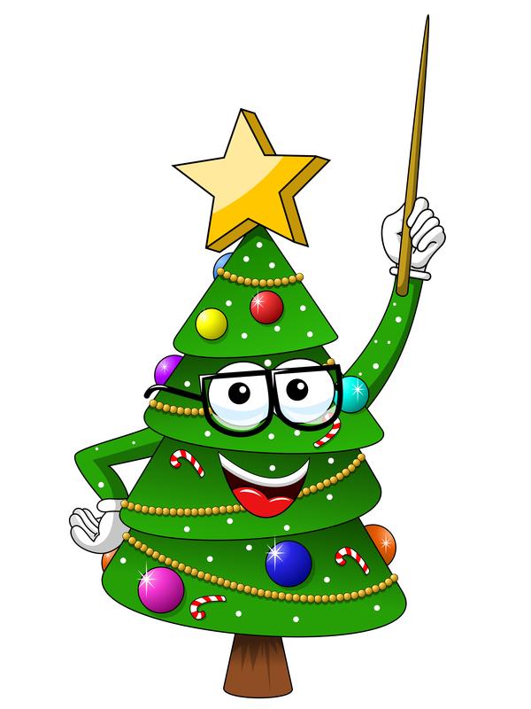 Funny cartoon christmas tree vector 03 - Vector Cartoon ...