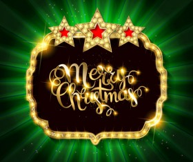Gold with diamond christmas background vectors 07