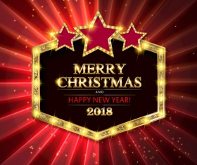 Gold with diamond christmas background vectors 09