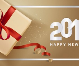 Golden 2018 new year background with gift boxs vector 03