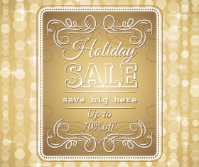 Golden christmas discount sale background vector
