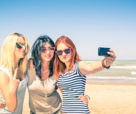 Good sister selfie Stock Photo