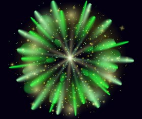 Green firework effect vector