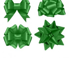 Green floral bows illustration vector
