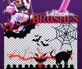 Halloween Photoshop Brushes set