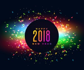 Happy 2018 new year vector background