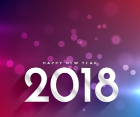 Happy 2018 new year with abstract background vector