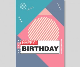 Happy birthday flyer and brochure cover template vector 06