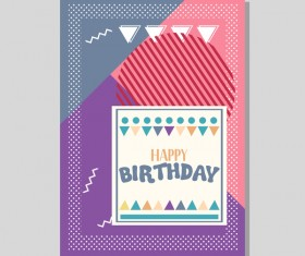 Happy birthday flyer and brochure cover template vector 07