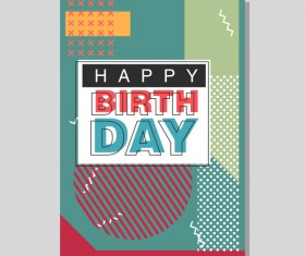 Happy birthday flyer and brochure cover template vector 08