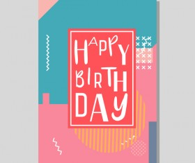 Happy birthday flyer and brochure cover template vector 09