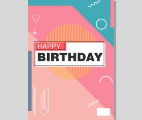 Happy birthday flyer and brochure cover template vector 10