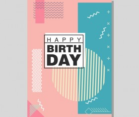 Happy birthday flyer and brochure cover template vector 11