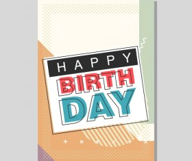 Happy birthday flyer and brochure cover template vector 13