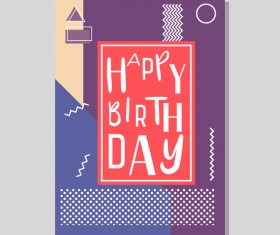 Happy birthday flyer and brochure cover template vector 14