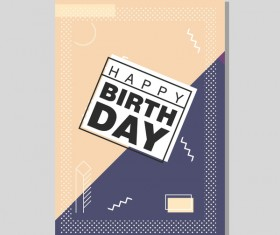Happy birthday flyer and brochure cover template vector 16