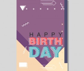 Happy birthday flyer and brochure cover template vector 19