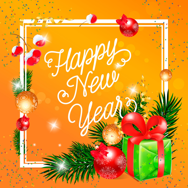 Happy New Year Greeting Card 33