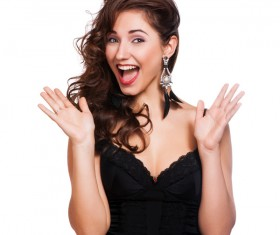 Happy woman laughing Stock Photo