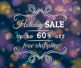 Holiday discount sale background vector