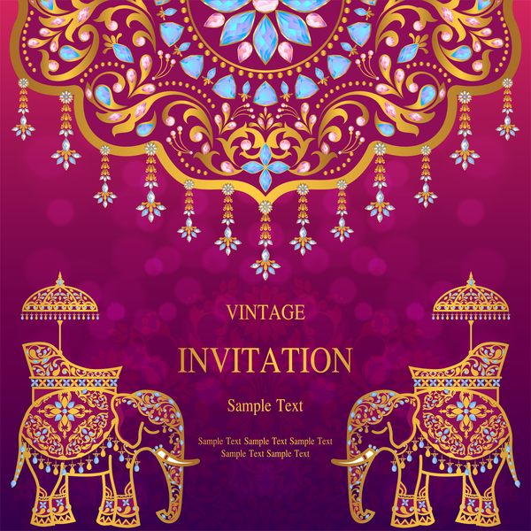India invitation card luxury vector free download india invitation card luxury vector stopboris Images