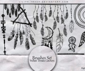 Indian Dream Catchers Photoshop Brushes