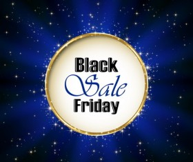 Inscription Black Friday Sale on blue background vector