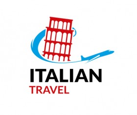 Italian travel logo vector