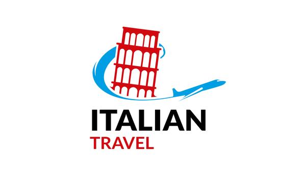Italian travel logo vector