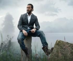 Keep beard handsome man Stock Photo 02