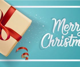 Light blue christmas background with gift boxs vector 02