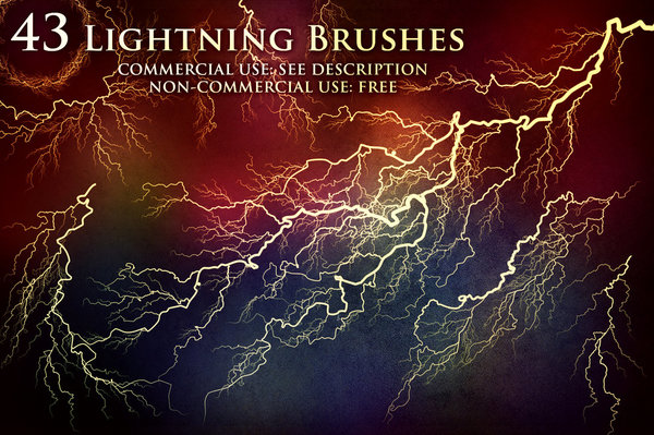 Lightning and Electricity Photoshop Brushes