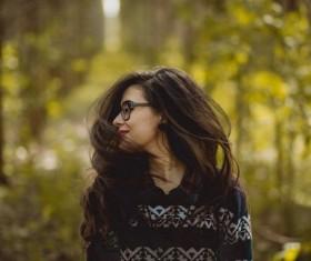 Long hair flowing girl Stock Photo