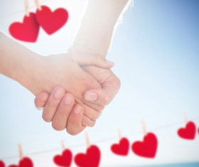 Lovers with hearts Stock Photo 02