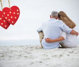 Lovers with hearts Stock Photo 09