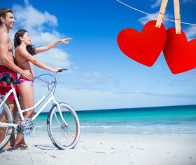 Lovers with hearts Stock Photo 12